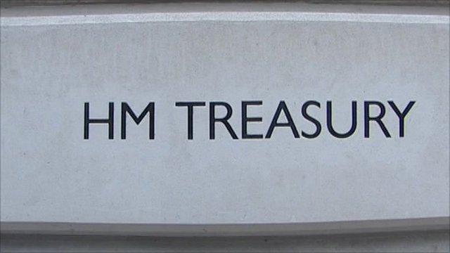 Treasury sign on building