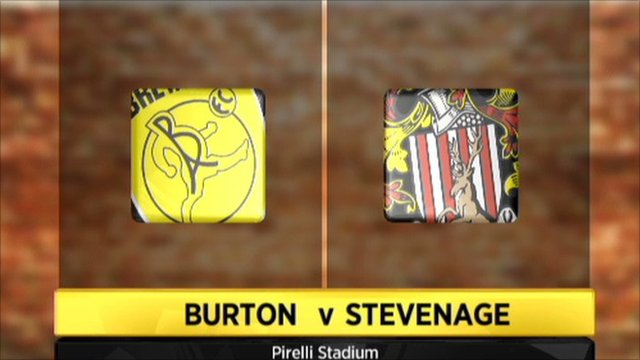 Burton v Stevenage graphic