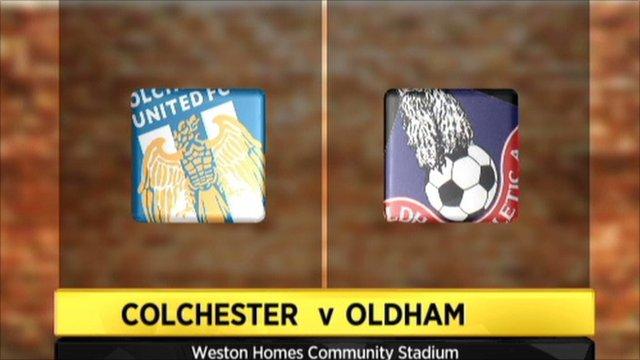 Colchester v Oldham graphic