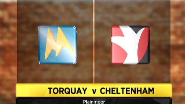 Torquay v Cheltenham graphic