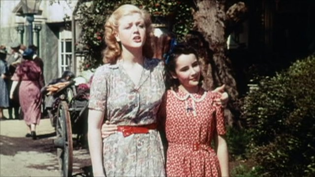 Angela Lansbury and Elizabeth Taylor in National Velvet, 1944