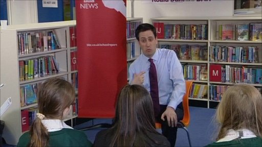 Ed Miliband interviewed by School Reporters