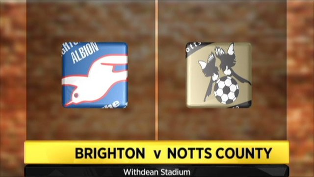 Brighton v Notts County graphic