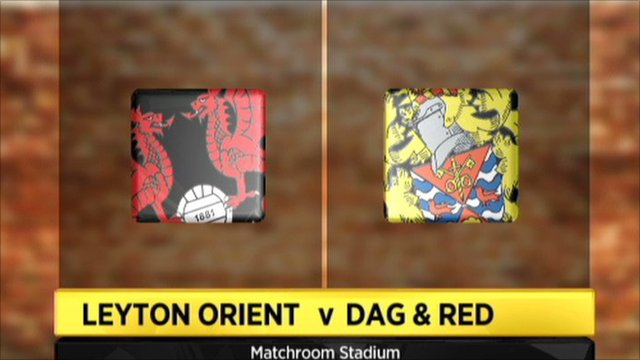 Leyton Orient v Dag & Red graphic