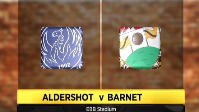 Aldershot v Barnet graphic