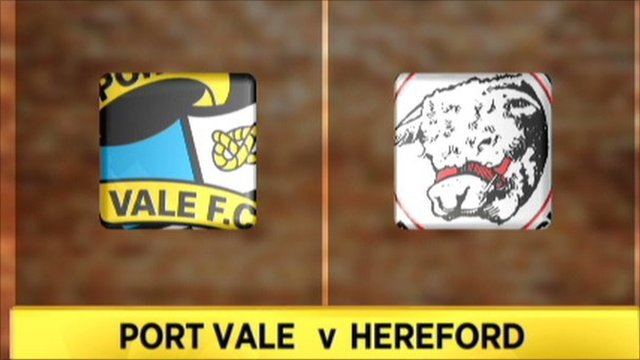 Port Vale v Hereford graphic