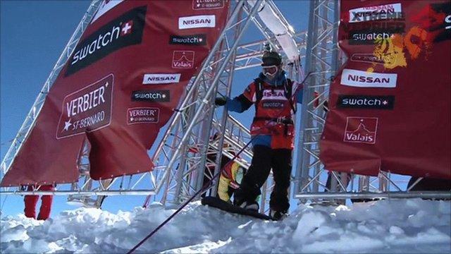 British snowboarder James Stentiford