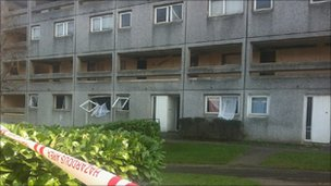 Scene of the blast in Richard Close