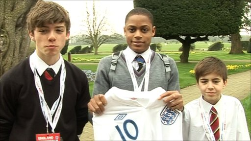 Three School Reporters from St Albans School at England's training camp at London Colney