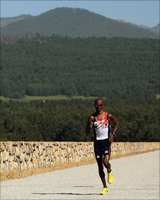 Britain's 5,000m runner Mo Farah at altitude