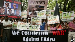 Protest in Sri Lanka over Libya  - 24 March 2011