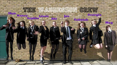 Reporters from Waddeson School in Buckinghamshire