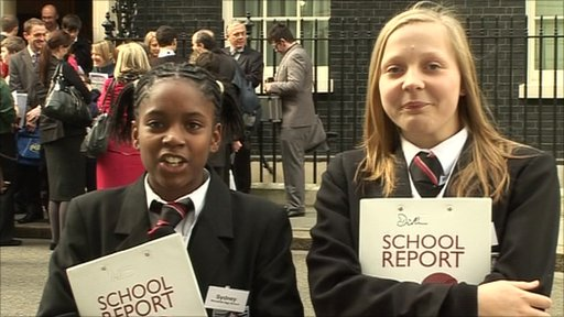 Sydney and Marzenka outside 10 Downing Street