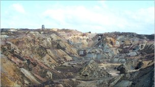 Old mines works at Parys Mountain