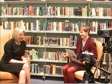 Cieran and Ellie interview Theresa May for School Report