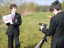 School reporters at Chesham Park Community College