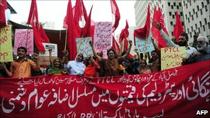 Activists of the Labour Party Pakistan in Karachi in march 2011