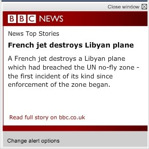 BBC News alert screenshot