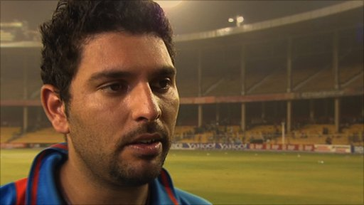 Yuvraj Singh in a post match interview