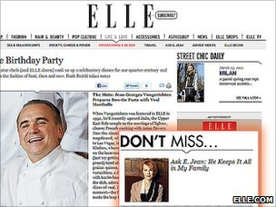 Elle.com screenshot