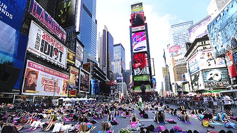 Advertising in Times Square, New York