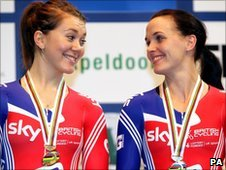 Jess Varnish and Victoria Pendleton