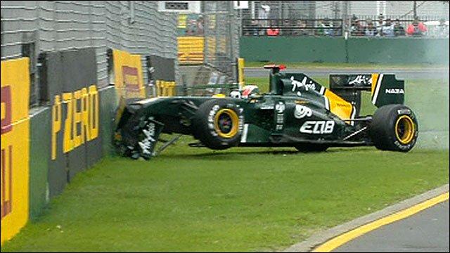 Karun Chandhok crashes his Lotus