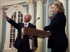PJ Crowley and Hillary Clinton