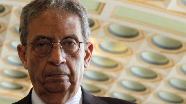 Amr Moussa, secretary general of the Arab League