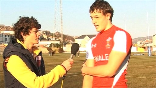 Cory Allen is interviewed by School Reporter James after his first cap