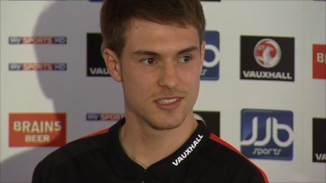 Aaron Ramsey at his first press conference as captain