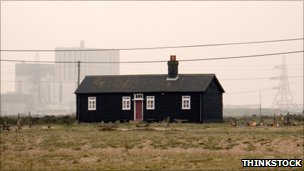 House and power station at Dungeness
