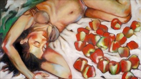 Girl and Apples 2 by Joana Ricou