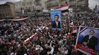 Funeral in Deraa for anti-government protesters killed during unrest in Yemen (25 March 2011)