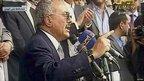 Yemeni President Ali Abdullah Saleh speaks to supporters in Sanaa (25 March 2011)