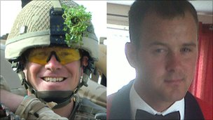 Maj Matthew Collins (L) and L/Sgt Mark Burgan