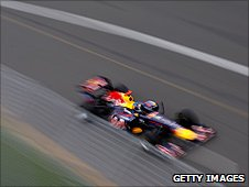 Sebastian Vettel's Red Bull at the Australian Grand Prix