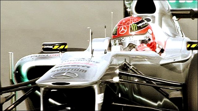 Michael Schumacher in his 2011 Mercedes GP car