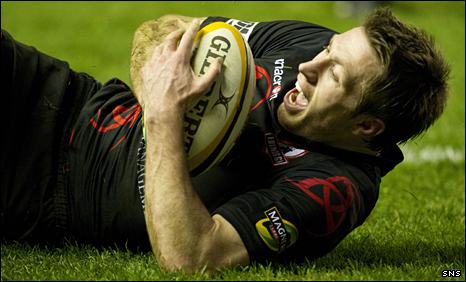 Jim Thompson scored one of Edinburgh's two tries