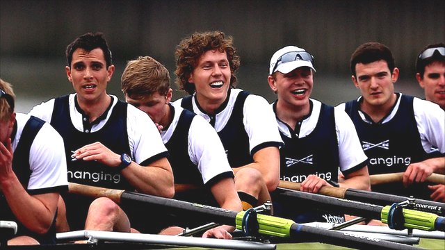 The Oxford crew celebrate