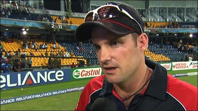 England captain Andrew Strauss admits his team's performances at the cricket World Cup were not good enough as his side are crushed by Sri Lanka in the quarter-finals.