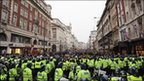 Scores of police in central London