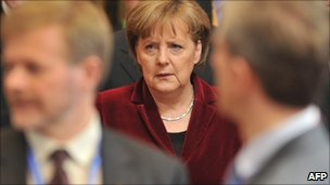 Angela Merkel at EU summit, 25 March 2011