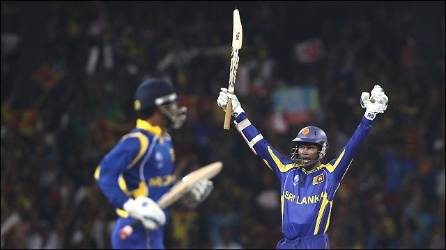 Sri Lanka celebrate beating Engand by 10 wickets