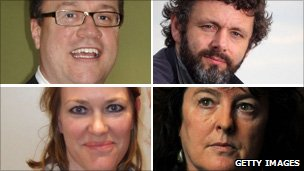 Russell T Davies, Michael Sheen, Carol Ann Duffy and Cerys Matthews