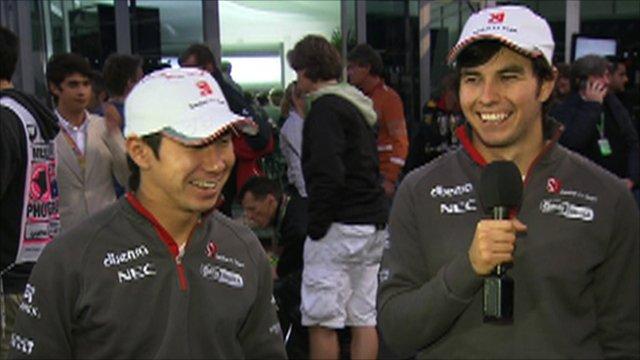 Kamui Kobayashi and Sergio Perez