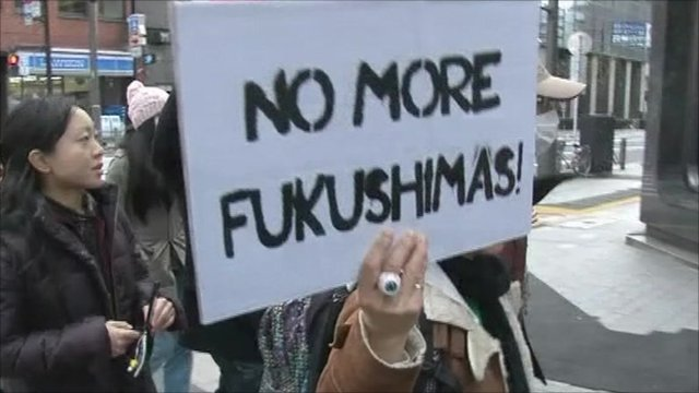 Protesters in Tokyo