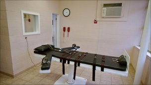 Lethal injection chamber, Louisiana, file pic