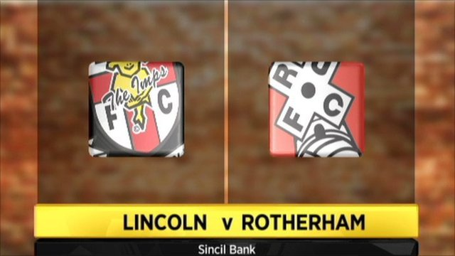 Lincoln v Rotherham graphic