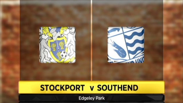 Stockport v Southend graphic